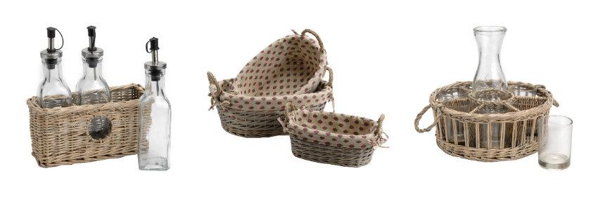 Koszyki z wikliny w stylu prowansalskim