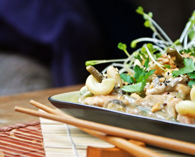 Soczysty kurczak w orientalnym sosie