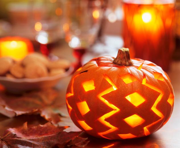 dekoracje na Halloween dynia