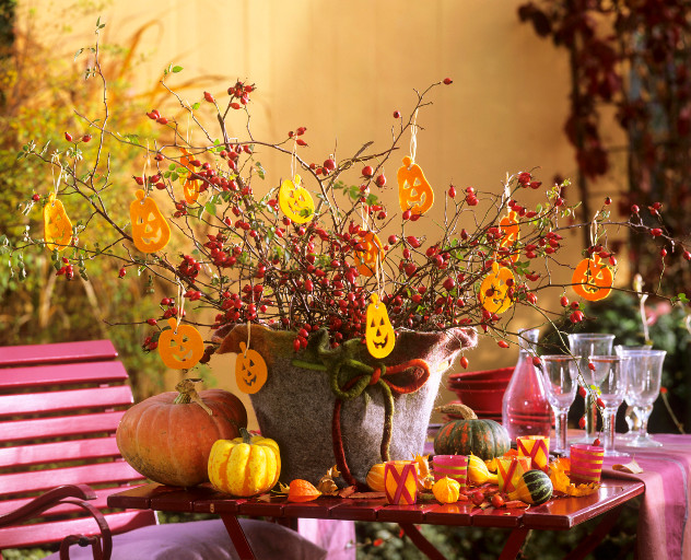 dekoracje na Halloween stół