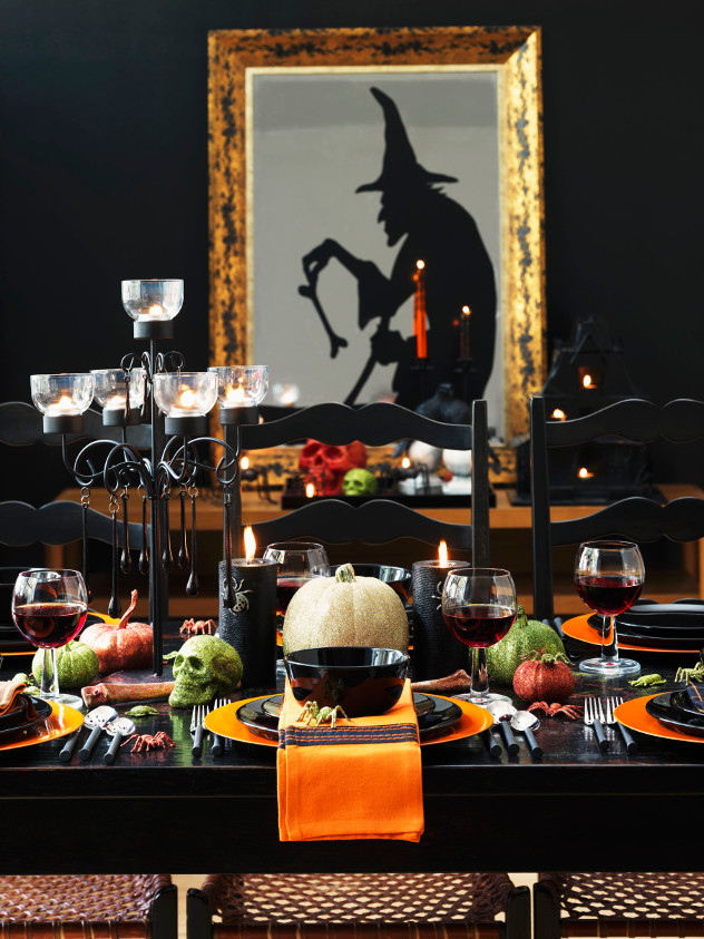 dekoracje na Halloween przerażający stół