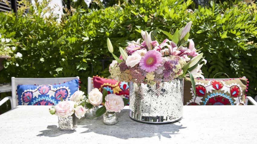 ogród i dekoracje na stole