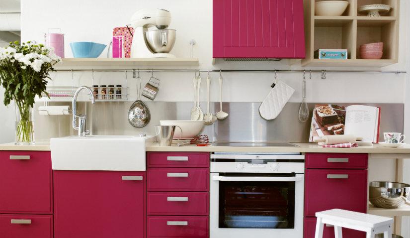 Fioletowe meble kuchenne