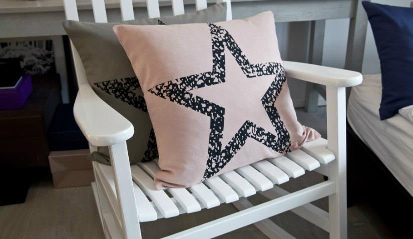 oryginalne poduszki w gwiazdki