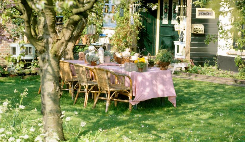 pergola ogrodowa w ogrodzie