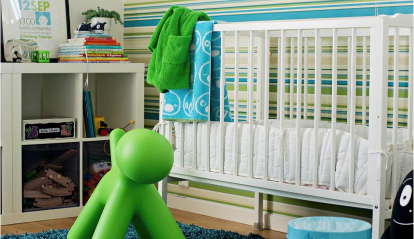 Przytulny zielony pokój dla dziecka