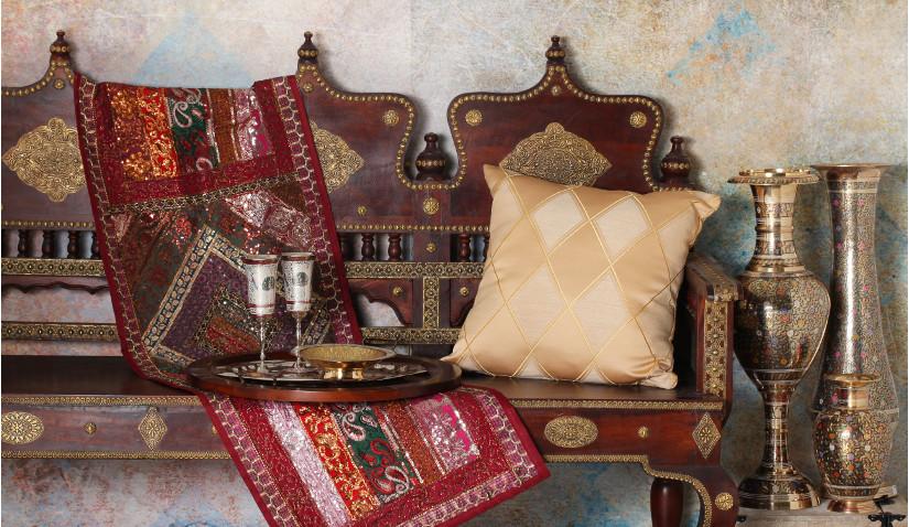 Salon w stylu kolonialnym