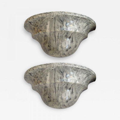 Pair of Art-Deco Marble Wall Fixtures