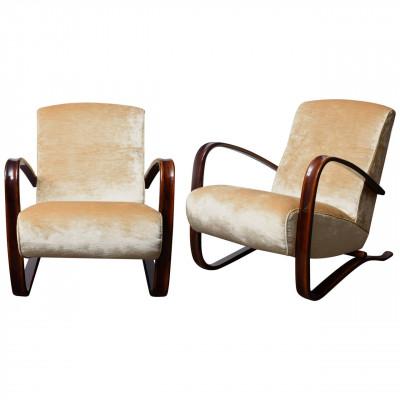 Elegant pair of Art-Deco armchairs