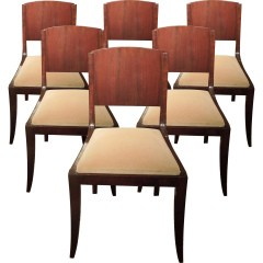 Set of 6 art-deco chairs