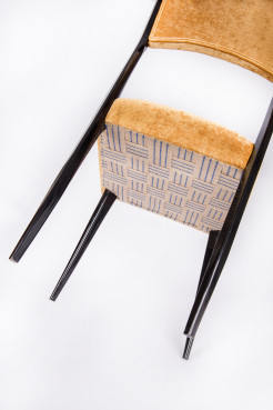 Set of six mid-century designed chairs