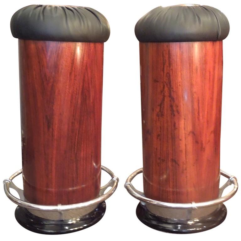 Pair of art-deco bar stools