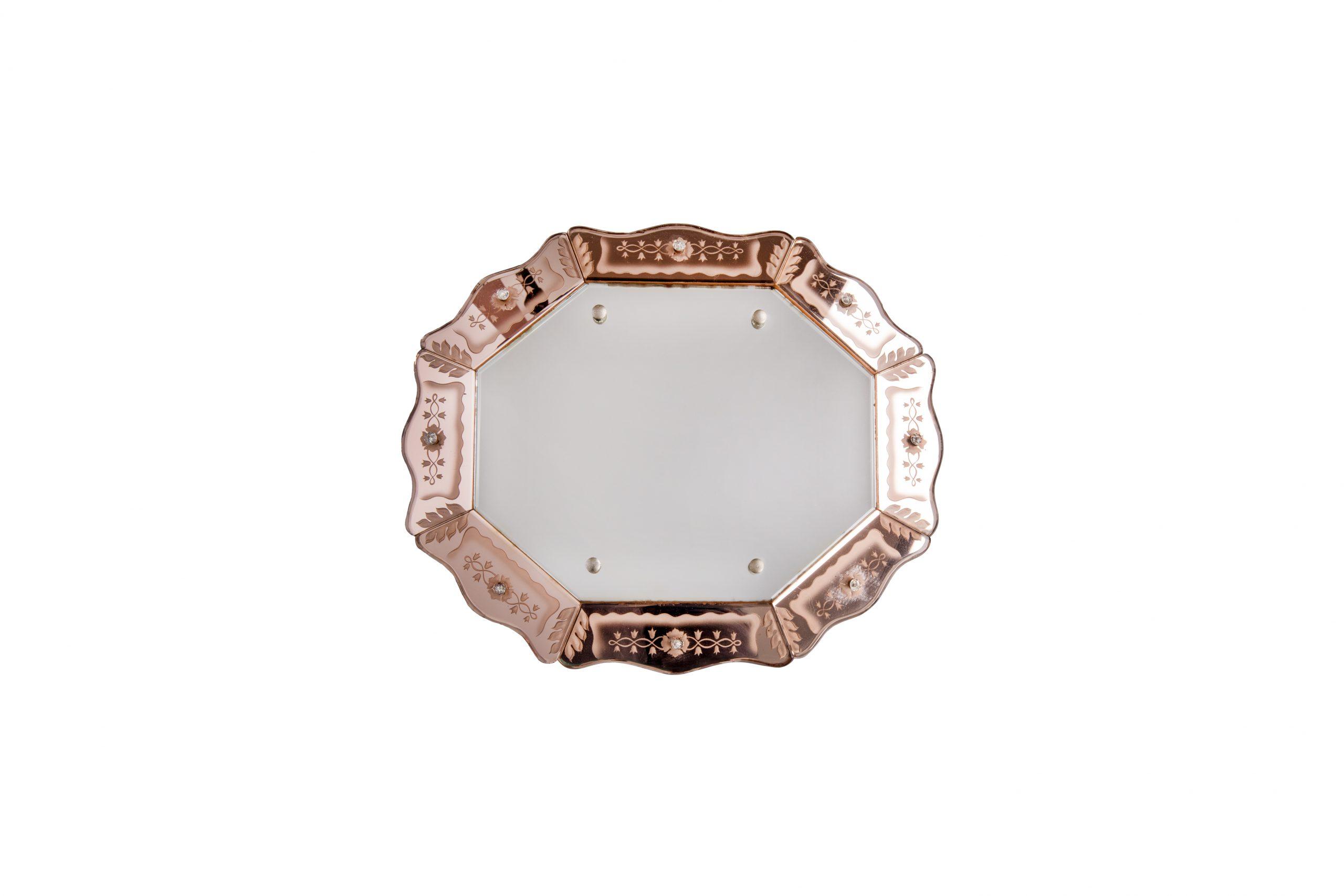Venetian art-deco wall mirror