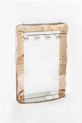 Miroir -porte manteau vénetien art-déco