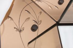 Venetian art-deco wall mirror and coat hanger