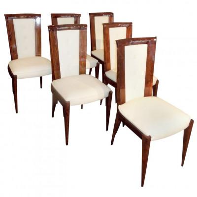 Ensemble de six chaises art-déco
