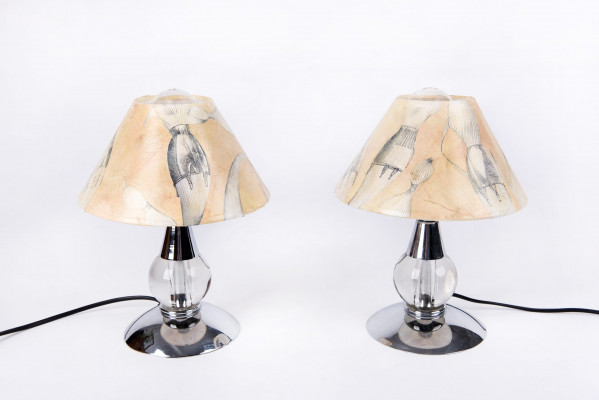 Paire de lampes de chevet art-déco
