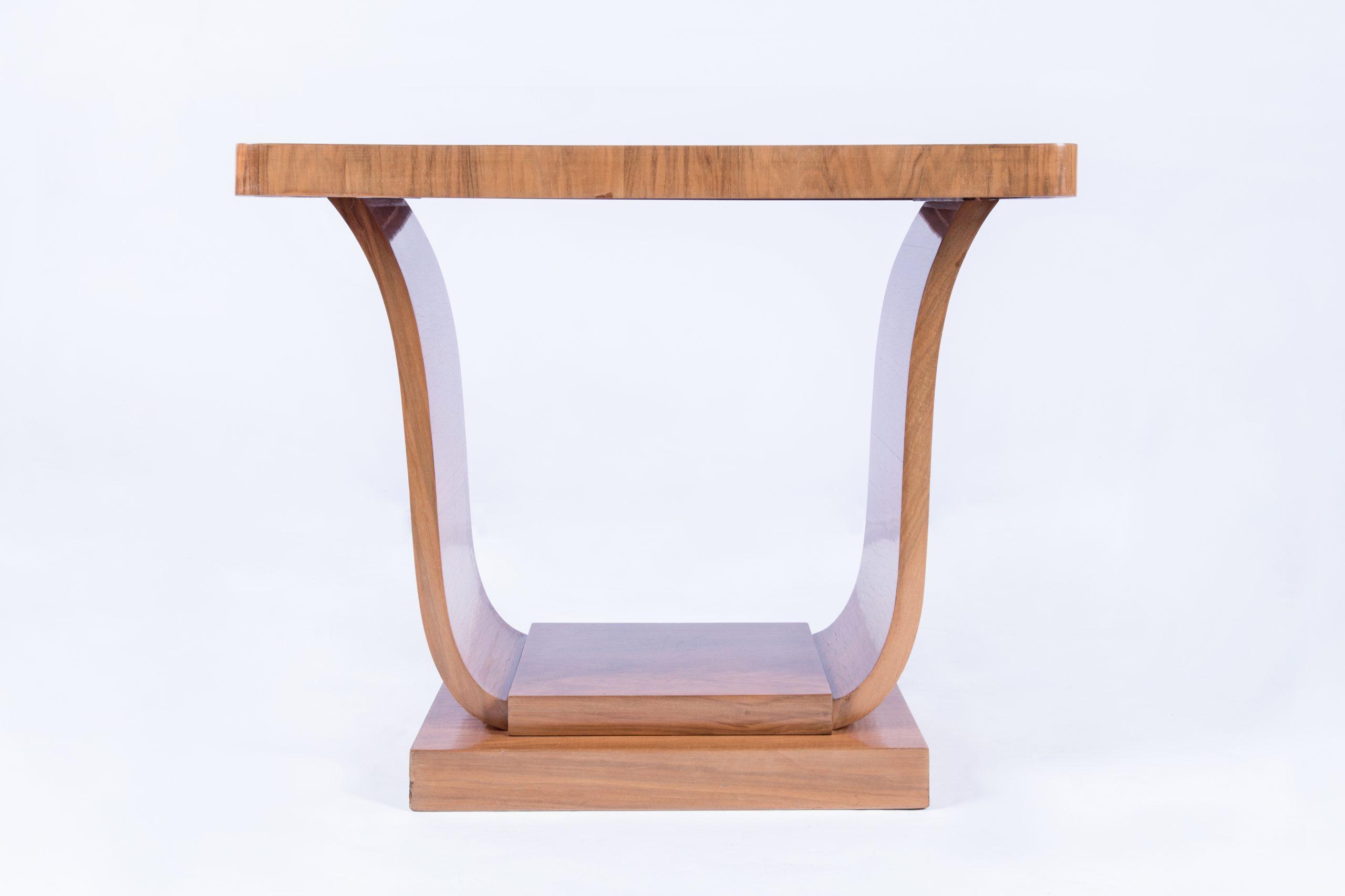 Walnut art-deco coffee table -