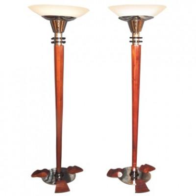 Pair of art-deco torchers