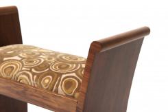 Walnut art-deco ottoman