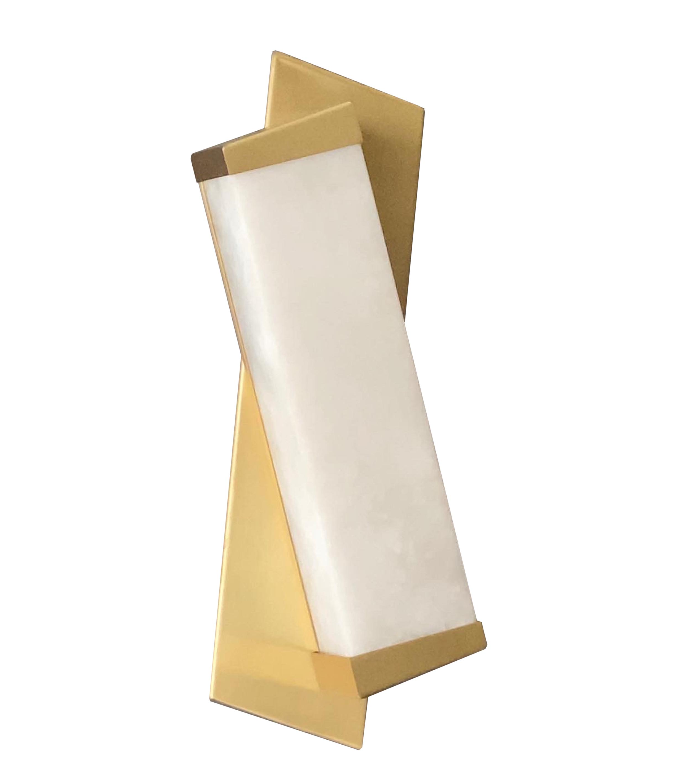 Messing en albast modernistische wandlampen