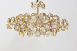 Lustre en laiton et cristal de Christoph Palm pour Palwa
