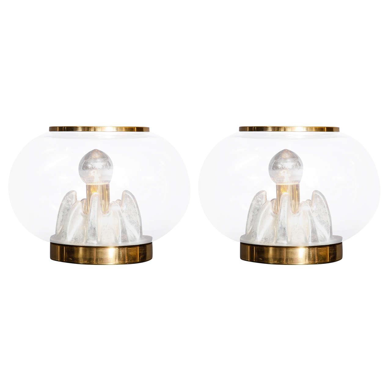 Paire de lampes Murano