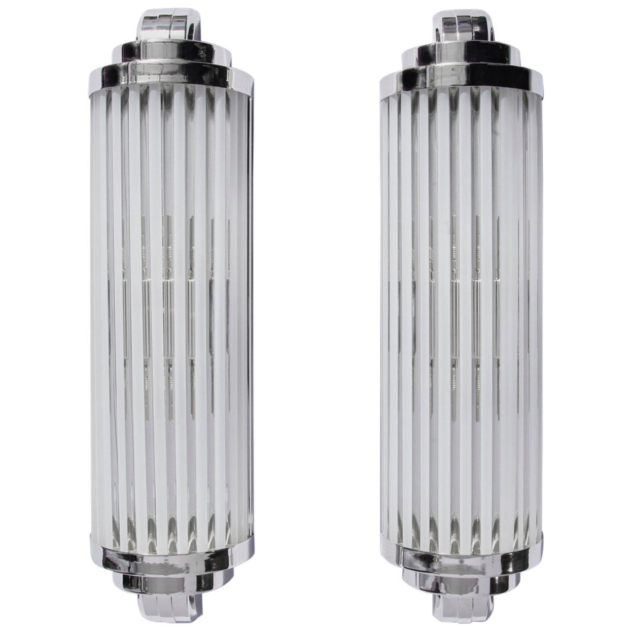 Pair of modernist wall lamps