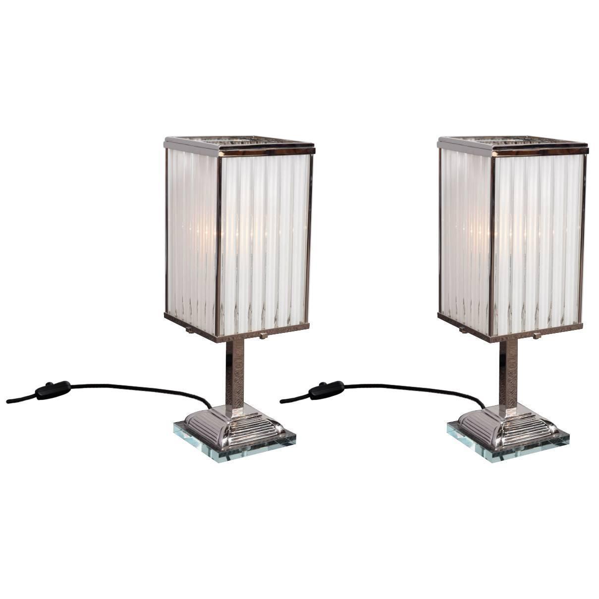Pair of art-deco lamps