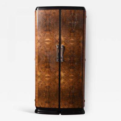 Walnut Art Deco Wardrobe