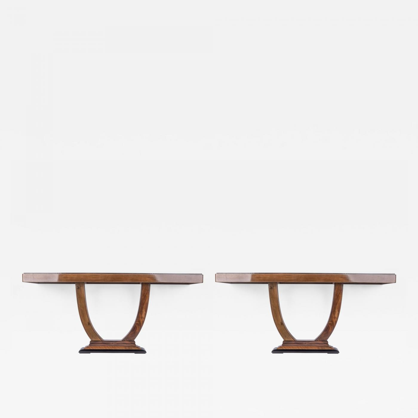 Pair of Art Deco Console Tables