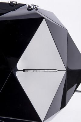 Ico Parisi Inspired Polyhedron Bar Cabinet