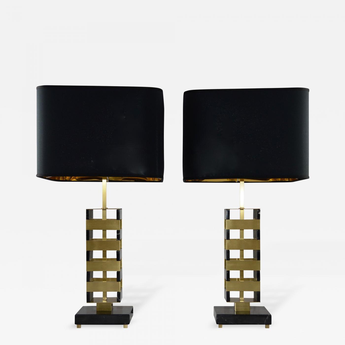 """Pair of """"Jenga"""" Table Lamps"""