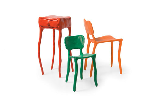 Clay furniture group, designed by Maarten Baas