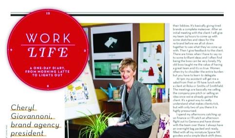 Cheryl Giovannoni featured in Stylist magazine