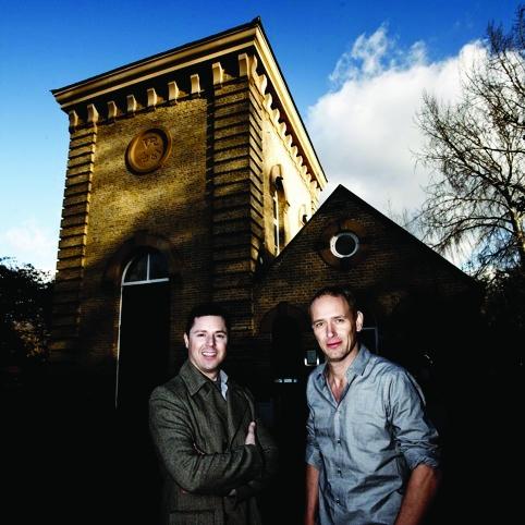 Day-time TV shleb Gordon Whistance (left) with artist Christian Jankowski