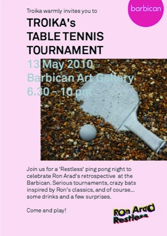 Troika's table tennis tournament - £8 pre-paid and £10 on the door