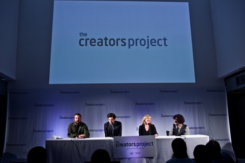 Mark Ronson, Shane Smith, founder of VICE,  CMO of Intel Deborah Conrado, and Alan Palomo lead singer of Neon Indian announce The Creators Project