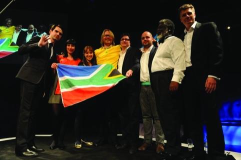 The TBWA/Hunt Lascaris Johannesburg celebrates its black pencil victory