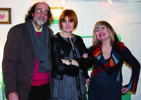 Mary Portas with Under the Moon owners Dazzle and Denny