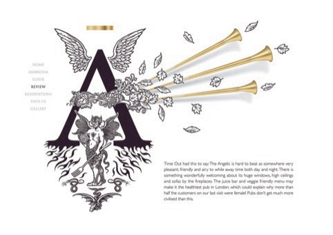 The Angelic website by Biles Inc - shortlisted in the 2010 Design Week Awards Digital design, commercial category