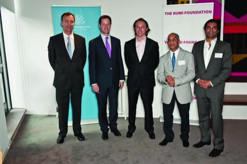 Dr Paul Thompson, Deputy PM Nick Clegg, Chad Hurley, Rumi Verjee, Jay Verjee at Innovate