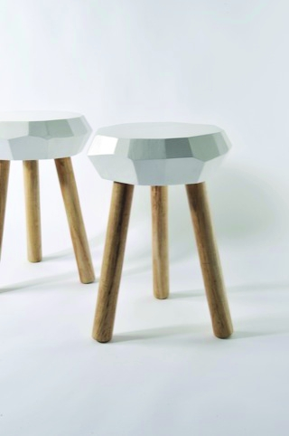 Two carpenter stools s by Jethro Macey