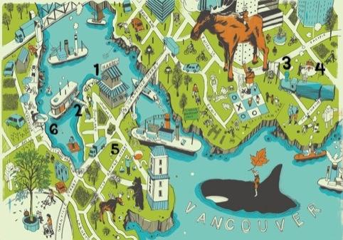 Josh Cochran's map of Vancouver