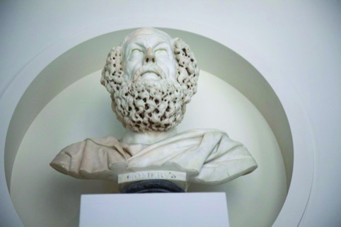 Andrew Motion will be giving a voice to this bust of Homer