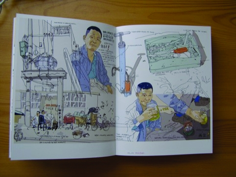 Mr Ren's bicycle repair shop by Olivier Kugler for the Guardian