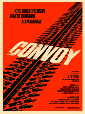 Convoy movie poster for the Rolling Roadshow 2010 by Olly Moss