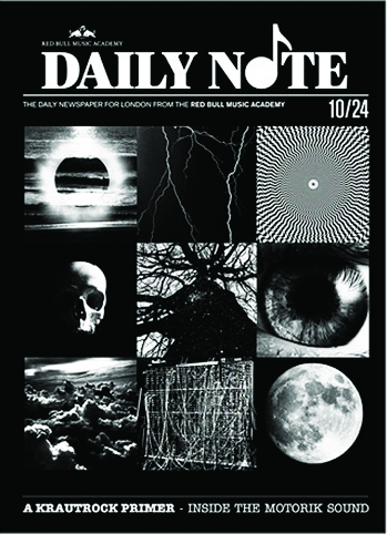 Red Bull's 'Daily Note' free newspaper cover by Trevor Jackson