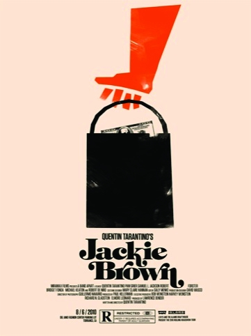 Jackie Brown movie poster for the Rolling Roadshow 2010 by Olly Moss