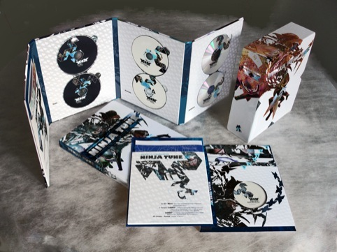 Ninja Tune XX Box Set, packaging by Openmind